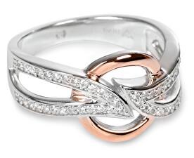 Stříbrný prsten s krystalky SC139
