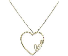 Dlouhý ocelový náhrdelník se srdcem TH2700908