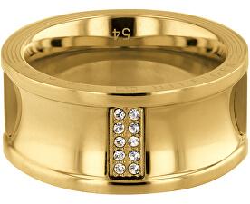 Luxusný pozlátený prsteň s kryštálmi TH2780036