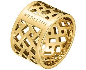 Originální pozlacený prsten z oceli TH2700750