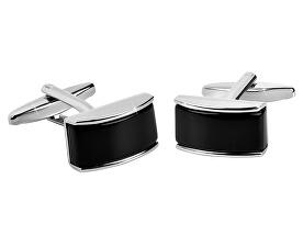 Ocelové manžetové knoflíčky s černým středem