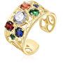 Pozlacený otevřený prsten se zirkony Corinto BOI32