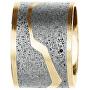 Ocelový přívěsek s betonem zlatá/šedá Split GJPWYGG102UN