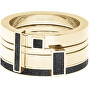 Sada čtyř prstenů s betonem Quadrium zlatá/antracitová GJRWYGA124