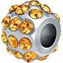 Ocelový přívěsek Drops Crystals Yellow SCZ41