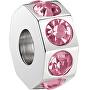 Pandantiv din oțel inoxidabilDrops Rose Crystal SCZ190