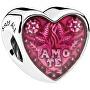 Zamilovaný korálik Latinskej srdce 792048EN117