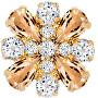 Magnetická brož s krystaly Freesia 2268Y49