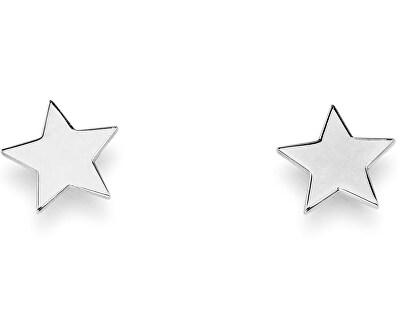 Elegantné strieborné náušnice Star ORSB