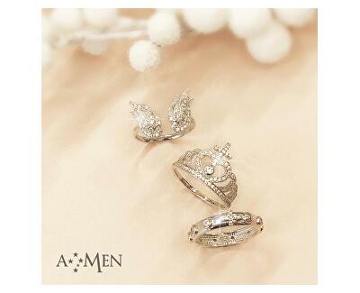 Inel original de argint cu zircon Angels RW