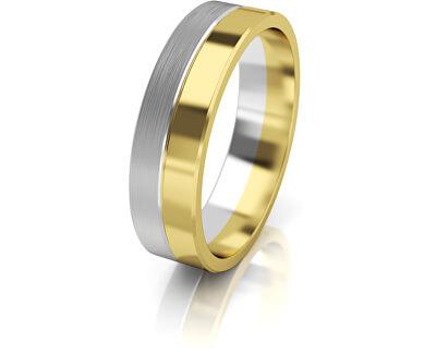 Inel din aur bicolor dama AUG121