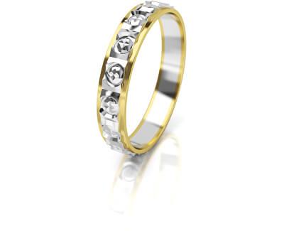Női bicolor arany gyűrű AUG303