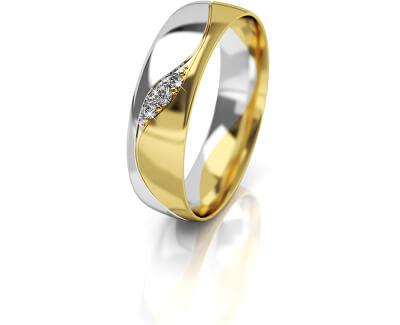 Verigheta din aur bicolor pentru femei cu zirconii AUG276