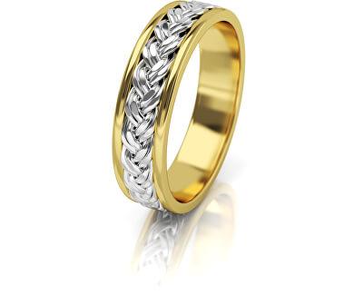 Dámský proplétaný snubní prsten ze zlata AUG008