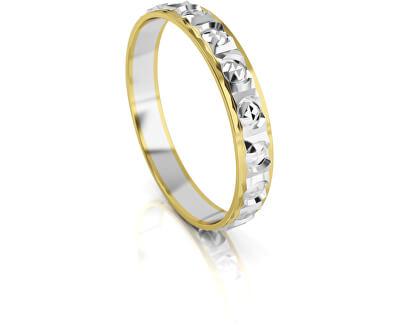 Férfi kétszínű arany gyűrű AUG303