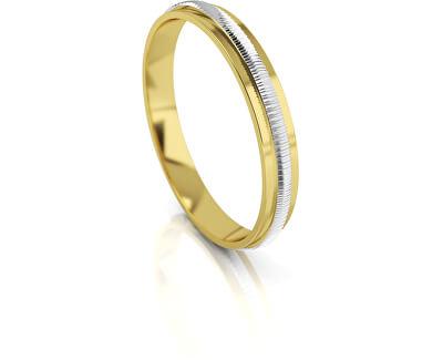 Férfi kétszínű arany gyűrű AUG328
