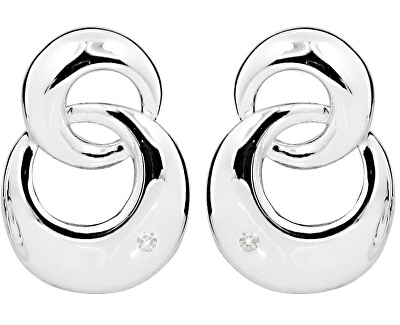 Stříbrné náušnice na šroubek s diamanty DAGUP1243S