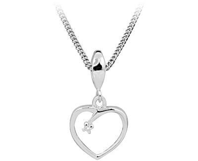 Stříbrný náhrdelník s diamantem DAGS806/50 (řetízek, příívěsek)