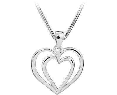 Stříbrný náhrdelník s diamantem DAGS812/50 (řetízek, přívěsek)