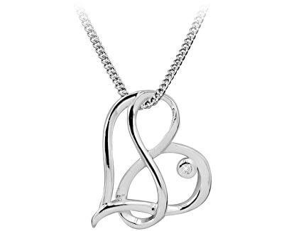 Stříbrný náhrdelník s diamantem DAGS815/50