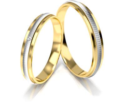 Verigheta din aur bicolor pentru femei cu diamant AUG328