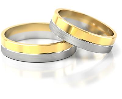 Férfi bicolor karikagyűrű aranyból AUG121