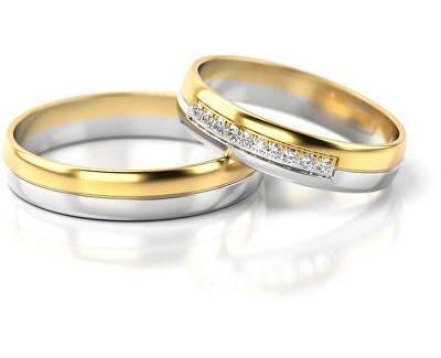 Pánský bicolor snubní prsten ze zlata AUG318