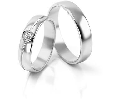 Férfi karikagyűrű fehér aranyból AUG314B