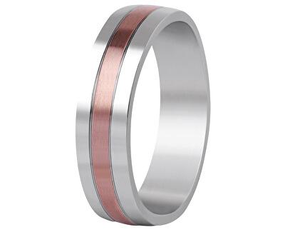 Bicolor snubní prsten z oceli SPP10