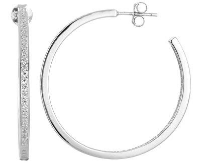 Kruhové stříbrné náušnice AGUP1177