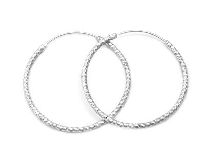 Luxusní kruhové stříbrné náušnice AGUC357