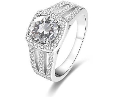 Luxusný strieborný prsteň s kryštálmi AGG183
