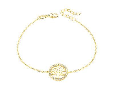 Pozlacený stříbrný náramek se stromem života AGB485/20-GOLD