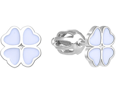 Stříbrné náušnice čtyřlístky AGUP1594S