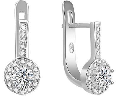 Stříbrné náušnice s krystaly AGUC1835