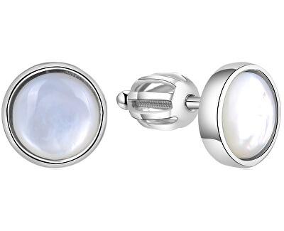 Stříbrné náušnice s perletí AGUP1651S