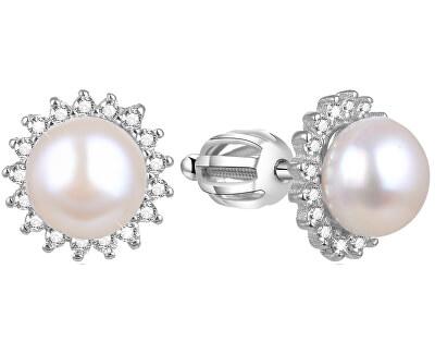 Stříbrné náušnice s pravou perlou AGUP1656PS