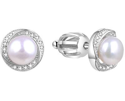 Stříbrné náušnice s pravou perlou TAGUP1585PS