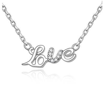 Strieborný náhrdelník Love AGS271/48