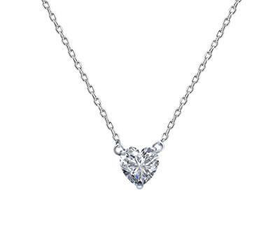 Stříbrný náhrdelník se srdíčkem AGS1133/47