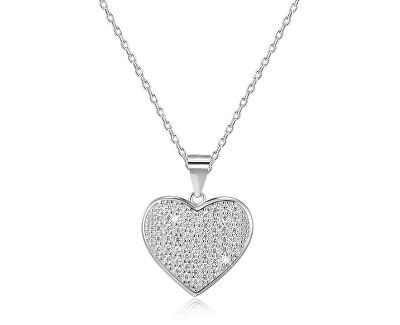 Stříbrný náhrdelník se srdíčkem AGS122/48 (řetízek, přívěsek)
