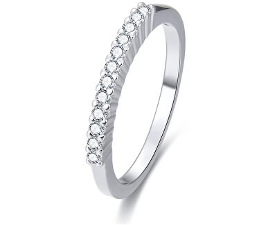 Stříbrný prsten s krystaly AGG187