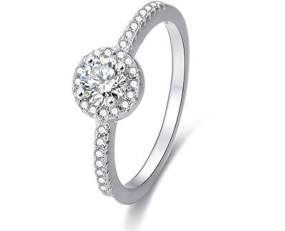 Stříbrný prsten s krystaly AGG194