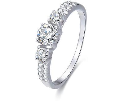 Stříbrný prsten s krystaly AGG197