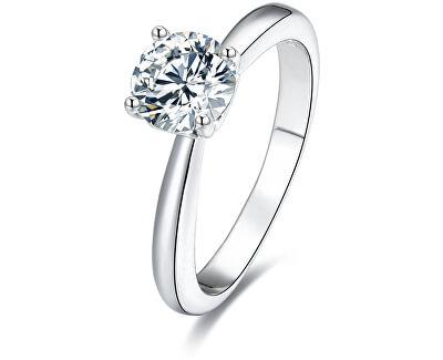Stříbrný prsten s krystaly AGG200 - SLEVA