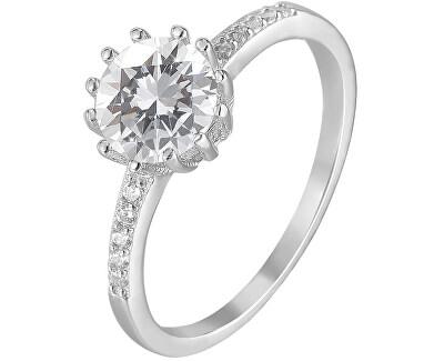 Stříbrný prsten s krystaly AGG206