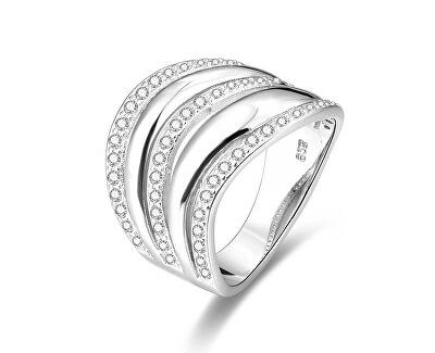 Stříbrný prsten se zirkony AGG329