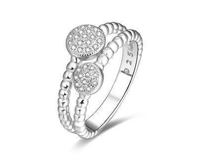 Stříbrný prsten se zirkony AGG335
