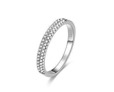 Stříbrný prsten se zirkony AGG337