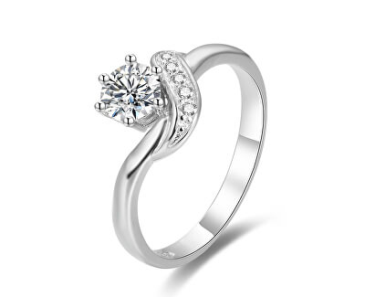 Stříbrný prsten se zirkony AGG345
